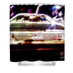 Delorean Fantasy Shower Curtain by Renee Trenholm