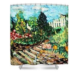 Delphi Garden Shower Curtain