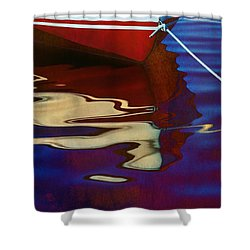 Delphin 2 Shower Curtain by Laura Fasulo