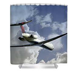 Delta Jet Shower Curtain by Brian Wallace