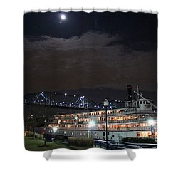 Delta Queen Under A Full Moon Shower Curtain by Kathy  White