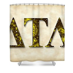 Delta Tau Lambda - Parchment Shower Curtain by Stephen Younts