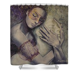 Delusion Shower Curtain by Dorina  Costras
