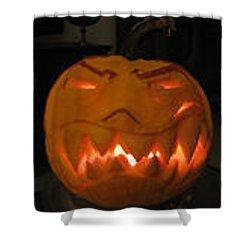 Demented Mister Ullman Pumpkin 2 Shower Curtain by Shawn Dall