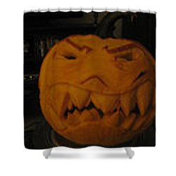 Demented Mister Ullman Pumpkin 3 Shower Curtain by Shawn Dall