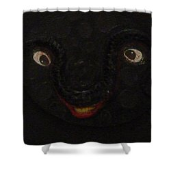 Shower Curtain featuring the mixed media Dark Smile by Douglas Fromm