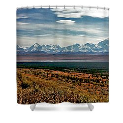 Shower Curtain featuring the photograph Denali Colors by Jeremy Rhoades
