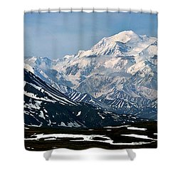 Shower Curtain featuring the photograph Denali National Park Panorama by John Haldane