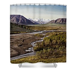 Denali Toklat River Shower Curtain