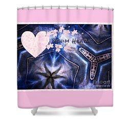 Denim Heart Shower Curtain