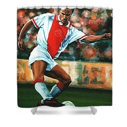 Dennis Bergkamp 2 Shower Curtain by Paul Meijering