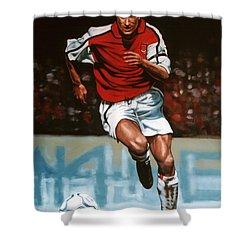 Dennis Bergkamp Shower Curtain by Paul Meijering