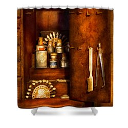 Dentist - The Dental Cabinet Shower Curtain by Mike Savad
