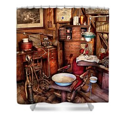 Dentist - The Doctor Will Be With You Soon  Shower Curtain by Mike Savad