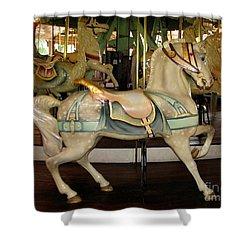 Dentzel Menagerie Carousel Horse Shower Curtain