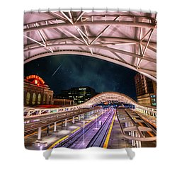 Denver Air Traveler Shower Curtain by Darren  White