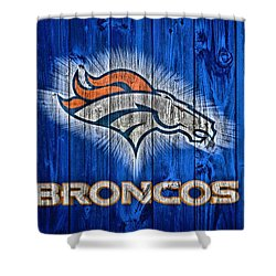 Denver Broncos Barn Door Shower Curtain