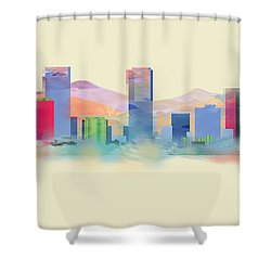 Denver Colorado Skyline I Shower Curtain
