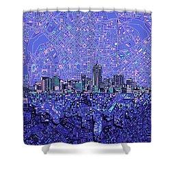 Denver Skyline Abstract 4 Shower Curtain