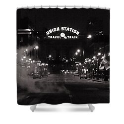 Denver Union Station Square Image Shower Curtain