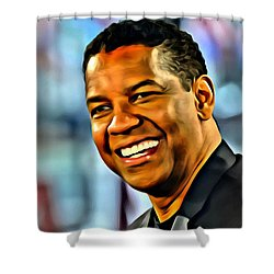 Denzel Washington Shower Curtain