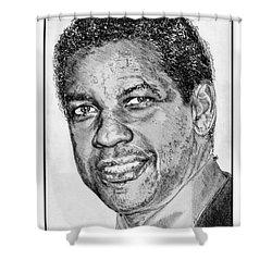 Denzel Washington In 2009 Shower Curtain by J McCombie