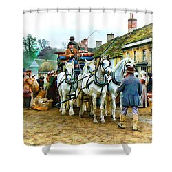 Departing Cranford Shower Curtain