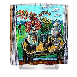 Departure Shower Curtain by Stan Esson