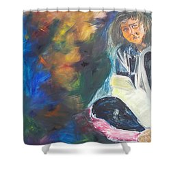Shower Curtain featuring the painting Depression by PainterArtist FIN