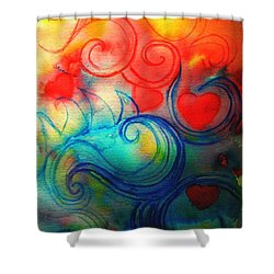 Shower Curtain featuring the painting Depths Of His Love by Hazel Holland
