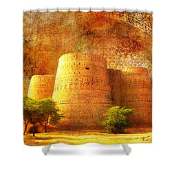 Derawar Fort Shower Curtain by Catf