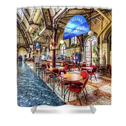 Derby Market Hall Cafe Shower Curtain by Yhun Suarez