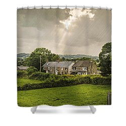Derbyshire Cottages Shower Curtain by Amanda Elwell