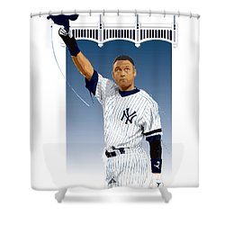 Derek Jeter 3000 Hits Shower Curtain