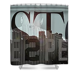 Derek Jeter - Boston Shower Curtain by Joann Vitali