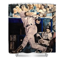 Derek Jeter Shower Curtain by Lance Gebhardt