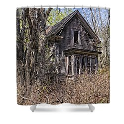 Shower Curtain featuring the photograph Derelict House by Marty Saccone