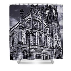 Shower Curtain featuring the photograph Derry Guildhall by Nina Ficur Feenan