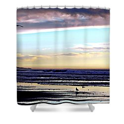 Descendants As Many As The Sand On The Shore Of The Sea Shower Curtain by Sharon Soberon