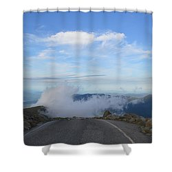 Descending Into The Clouds Shower Curtain