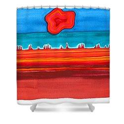 Desert Cities Original Painting Sold Shower Curtain