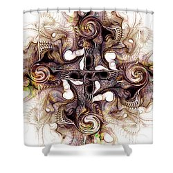 Desert Cross Shower Curtain by Anastasiya Malakhova
