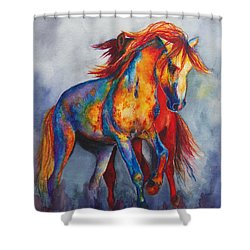 Desert Dance Shower Curtain by Karen Kennedy Chatham