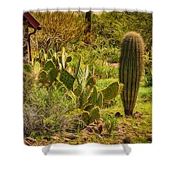 Shower Curtain featuring the photograph Desert Dream by Mark Myhaver