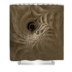 Desert Etching Shower Curtain by GJ Blackman