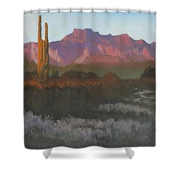 Desert Sunset Glow - Art By Bill Tomsa Shower Curtain