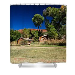Shower Curtain featuring the photograph Desert Field by Dave Files