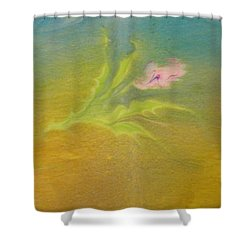 Shower Curtain featuring the painting Desert Flower by Mike Breau