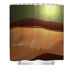 Desert Heat II Shower Curtain by Jennifer Muller