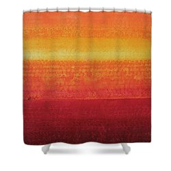 Desert Horizon Original Painting Shower Curtain
